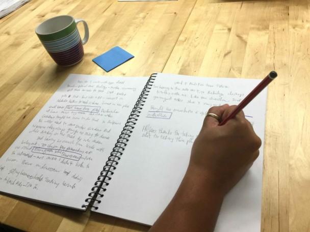 writing hand